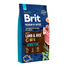 Корм для собак Brit Premium Sensitive  Lamb & Rice, 8 кг